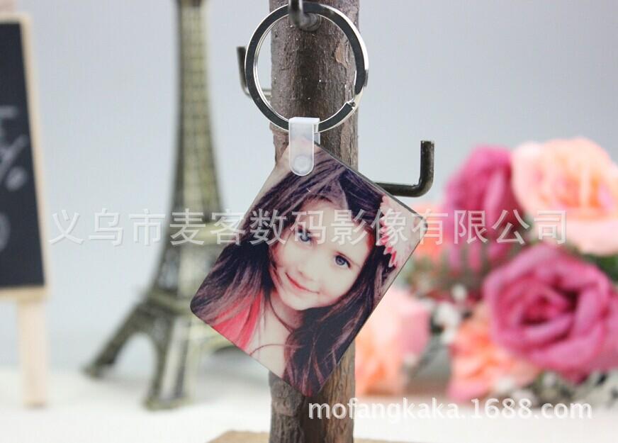 供应热转印MDF钥匙扣 高密度板钥匙扣 广告礼品定制 可印logo