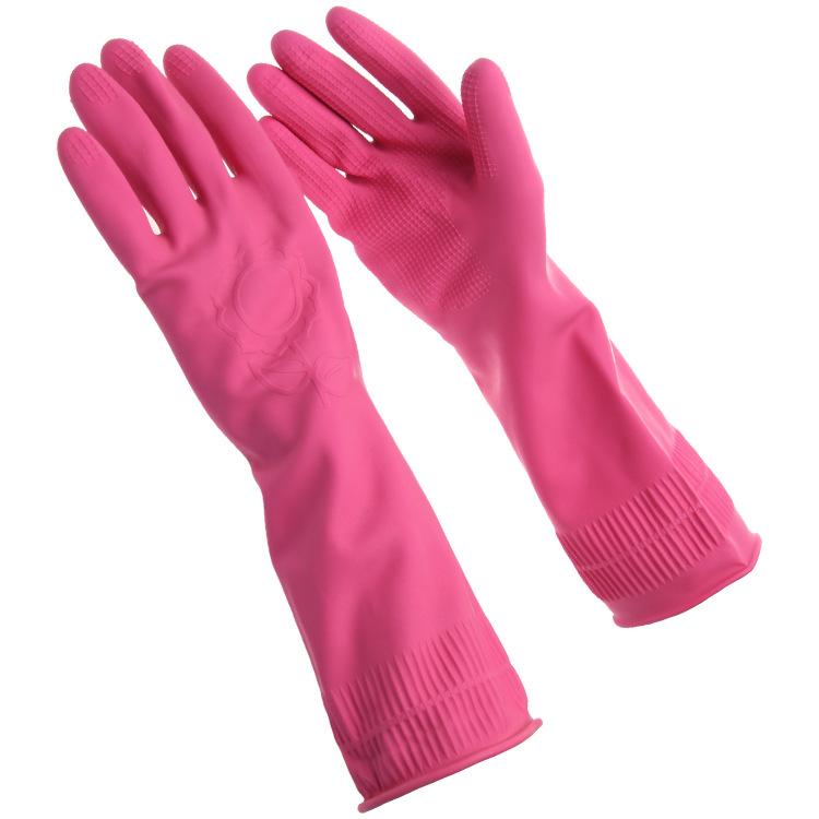 特价 家务清洁护手手套胶两双装 居家防护手套厨房手套批发