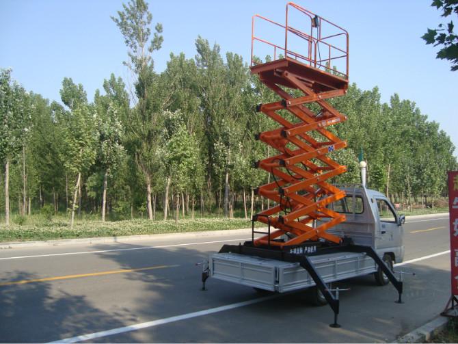 厂家直销车载液压升降机行业领先剪叉式升降平台高空租车