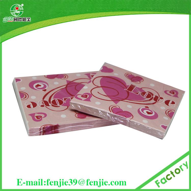 定做印花餐巾纸 环保餐巾纸 四分之一折彩色餐巾纸 出口欧美市场