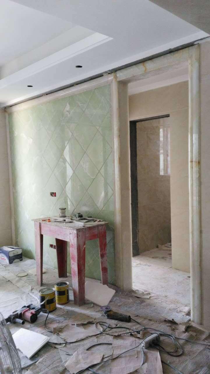 电视背景墙安装 房子装修设计 玉石 瓷砖  水电布置 彻墙 门订做