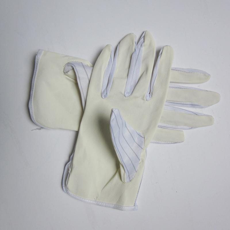 【防静电手套】厂供PU双面条纹手套工业电子静电防护无尘手套批发