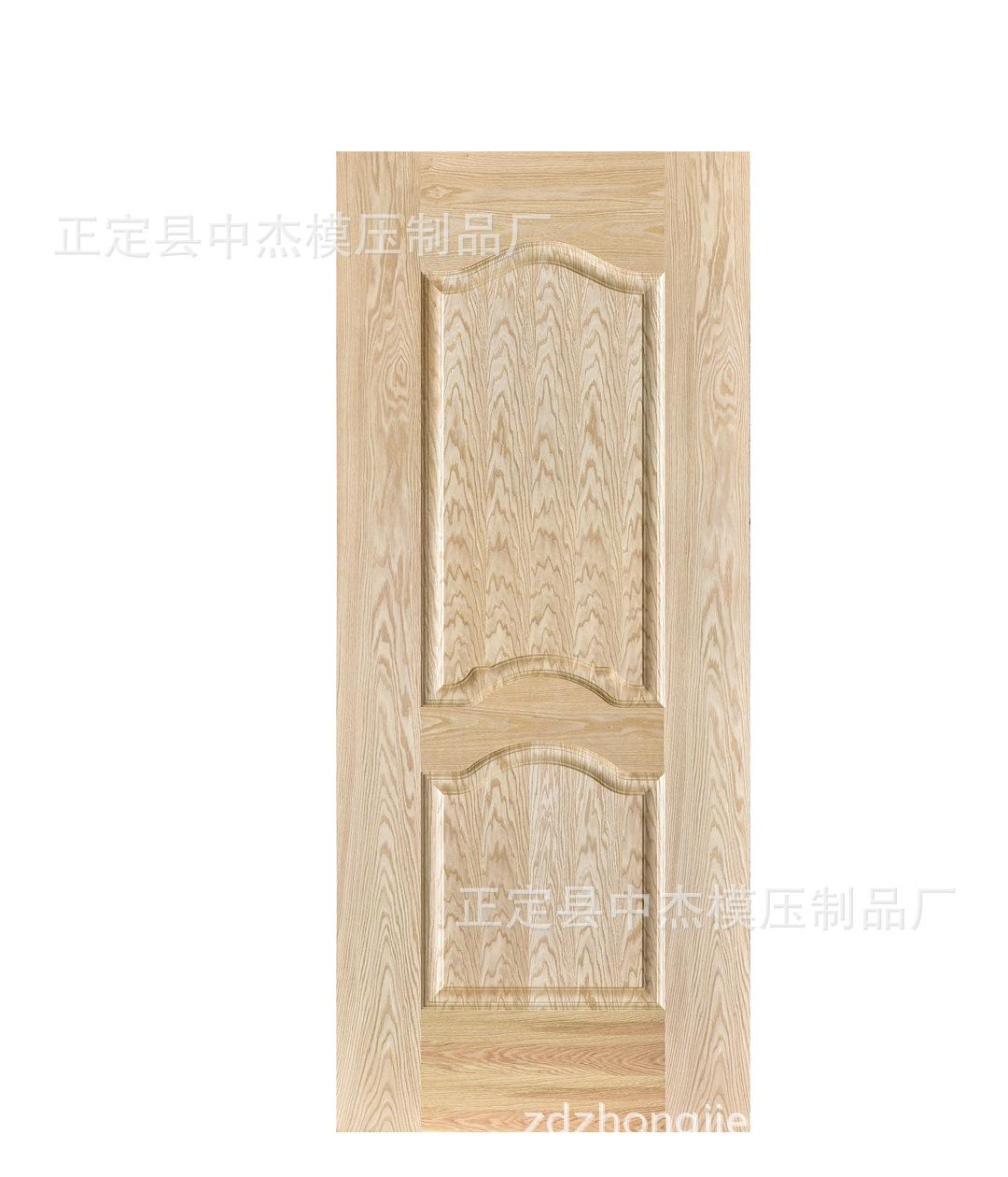 【厂家大量批发】天然木皮贴面外凸线外压线模压门板门皮K-01型