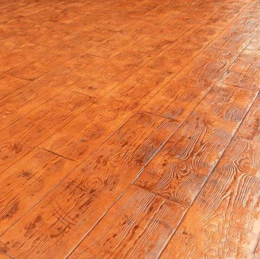 河北压花地坪批发 仿木纹仿木地板压模地坪 艺术压模地坪彩色地面
