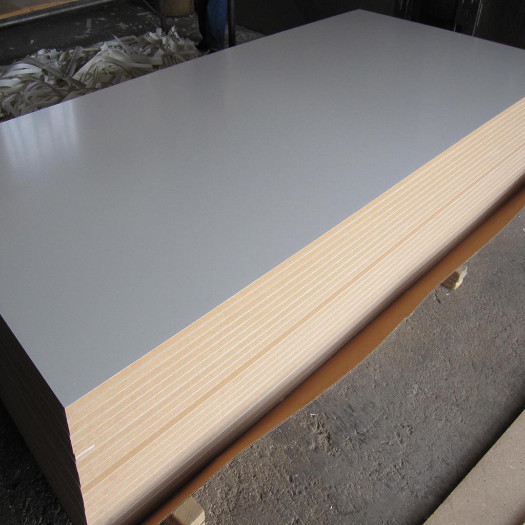 18mm单面白 高密度板免漆饰面板 奥松板密度板定制木板 雕刻镂铣