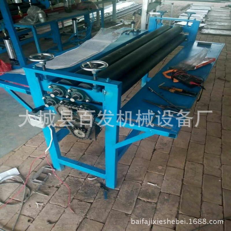专业生产金刚网纱窗平网机手动五轴校平机铁皮卷圆保温工程设备
