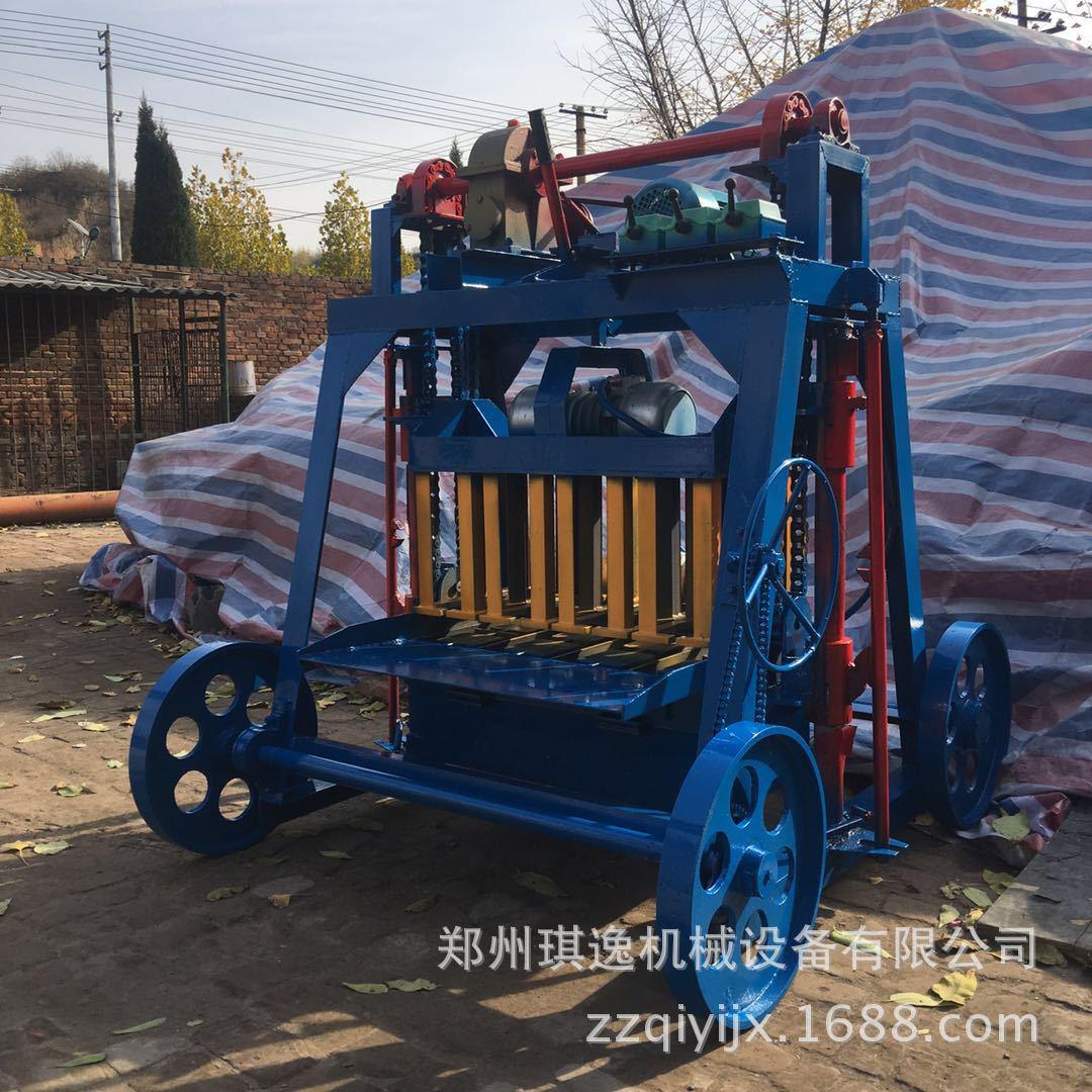经济实用小型四轮移动式空心打砖机 多功能混凝土免烧砌块砖机