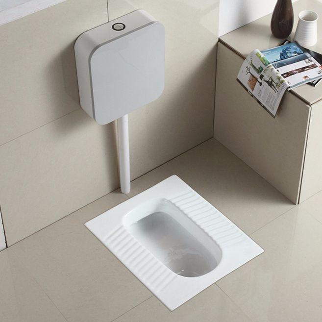 陶瓷蹲便器 高级蹲厕套装 蹲坑蹲式大便器 冲落式连体承接OEM