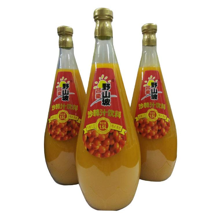 吕梁野山坡1.5L*6瓶装沙棘汁果汁饮料婚庆佳品 夏季清凉消暑饮料