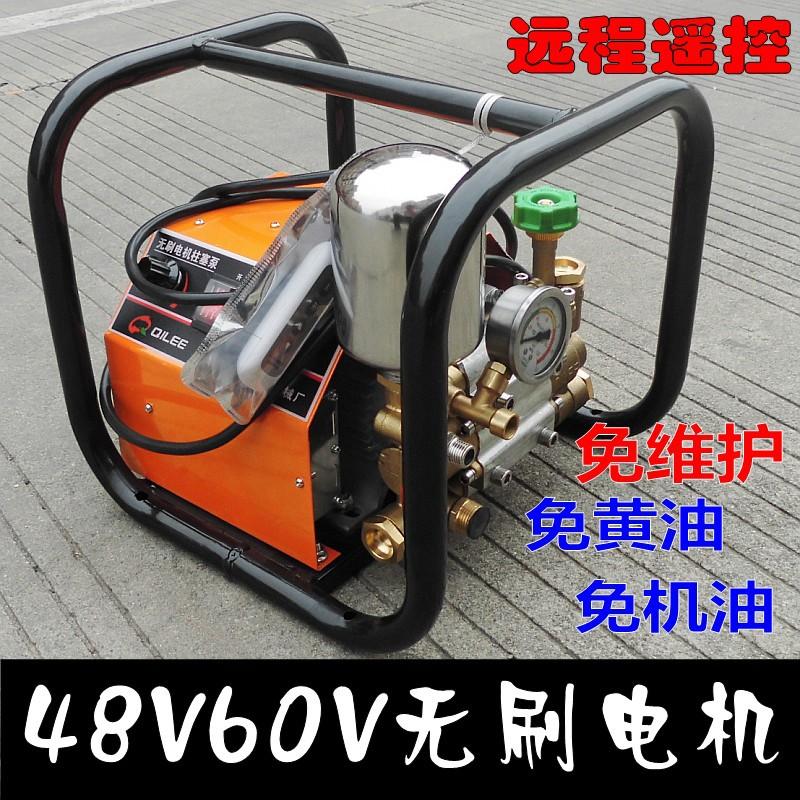 奇力48V60v直流无刷电机 双缸柱塞泵农用打药机高压水泵喷雾器