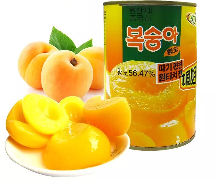 热卖人气热销 鑫语石季 黄桃罐头425克 整箱12罐