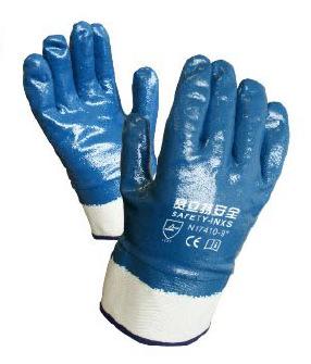 供应赛立特N17410全浸丁腈耐磨耐油防水舒适灵巧安全袖口防护手套