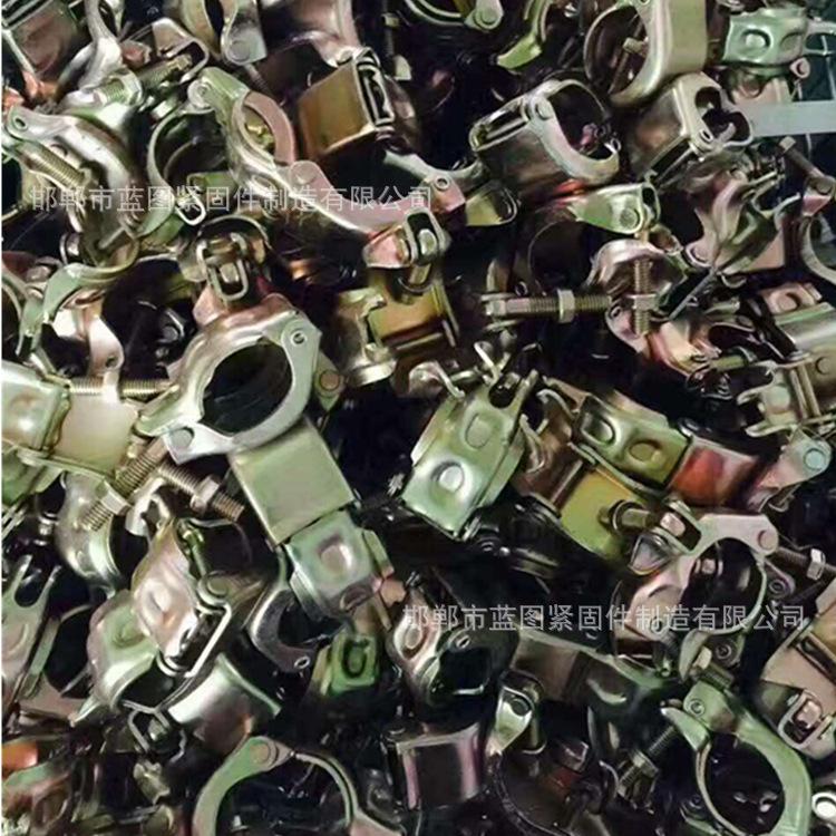 定制扣件 马钢铸件 非标连接扣件 玛钢管件  十字扣件