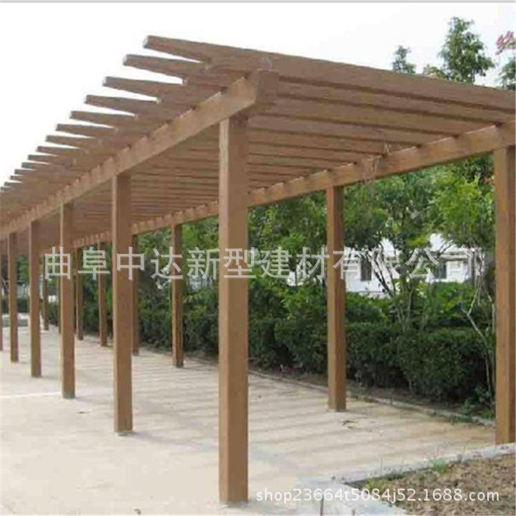 优质生产混凝土防腐木花架 轻质仿木长廊 植物攀爬架