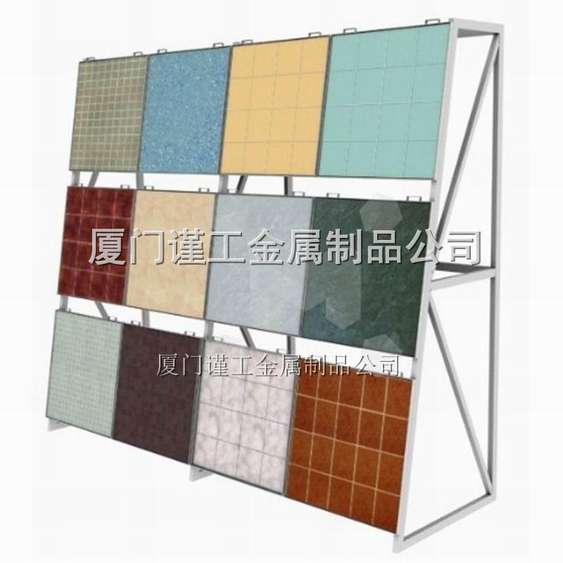 大理石地面纯色砖客厅石材拼花地面石材瓷砖面包砖展示架货架金属