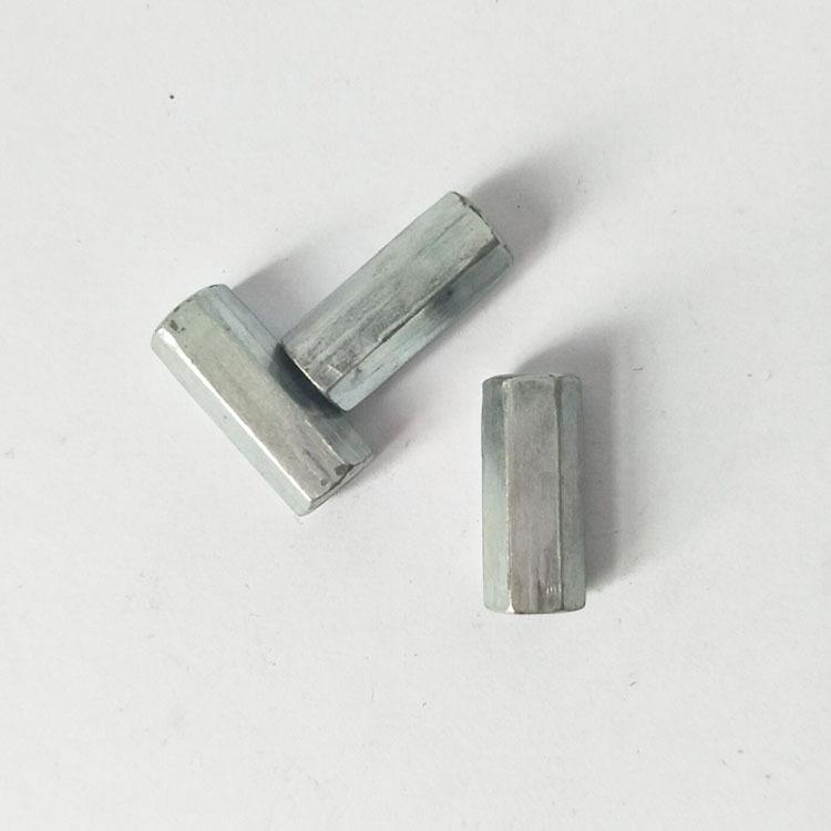 丝杠连接接头螺帽 镀锌六角接头螺母m14连接母 丝杠专用对接螺母