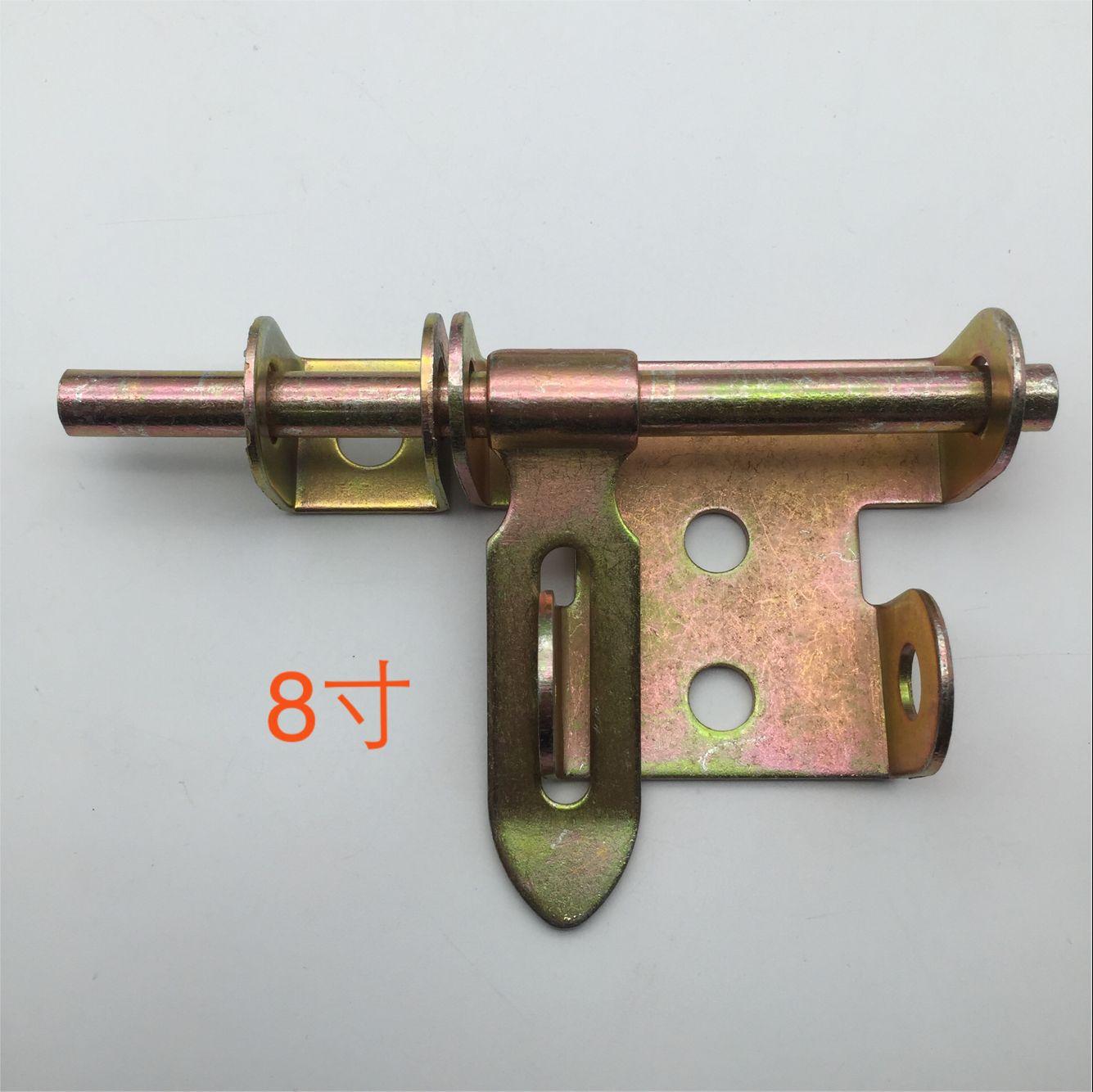 胜美家8寸铁门栓门牛门锁左右插销老式碰焊门耳门窗配件