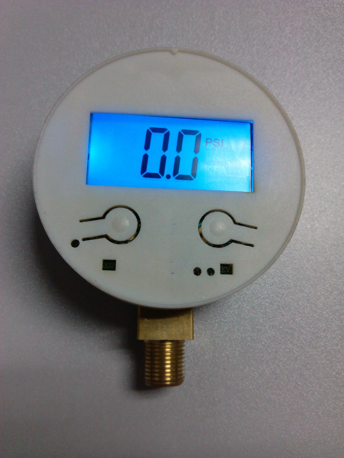汽车用品金属充气泵车载打气泵数字压力表数显表