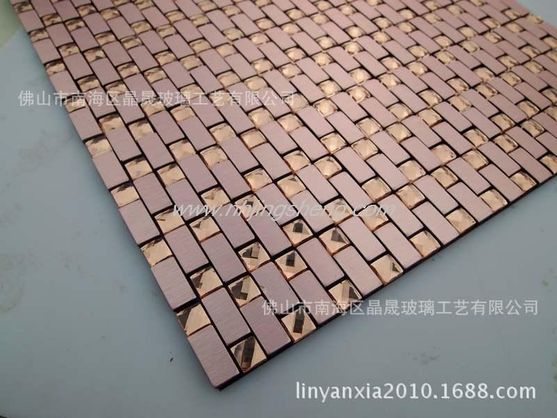 【厂家直销】佛山铝塑板马赛克低价出售 金属马赛克 jsm-728